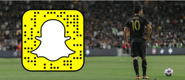 Snapchat logo next to LAFC