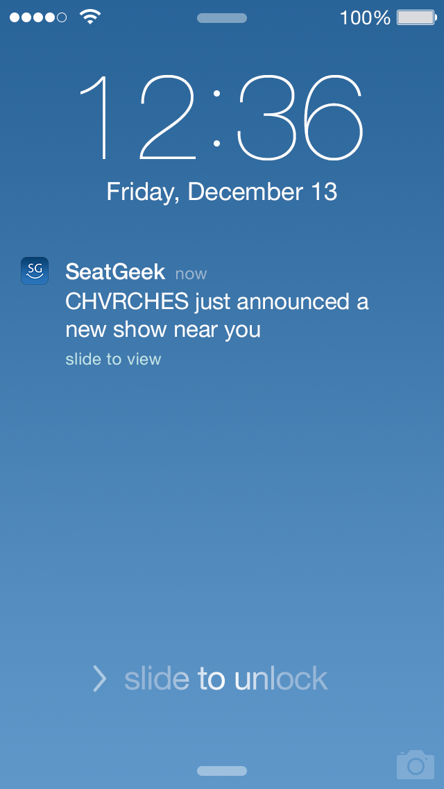 SeatGeek for iOS Push Notifications