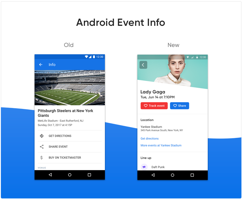 Android event info screenshot